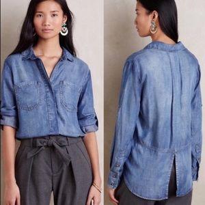 Cloth & Stone Split Back Shirt
